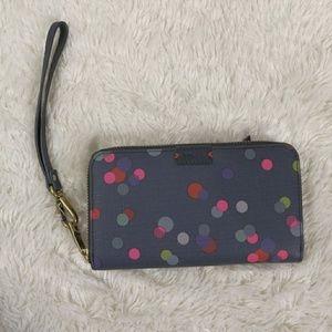 🆕 Fossil Emma Smartphone Wallet Wristlet Confetti